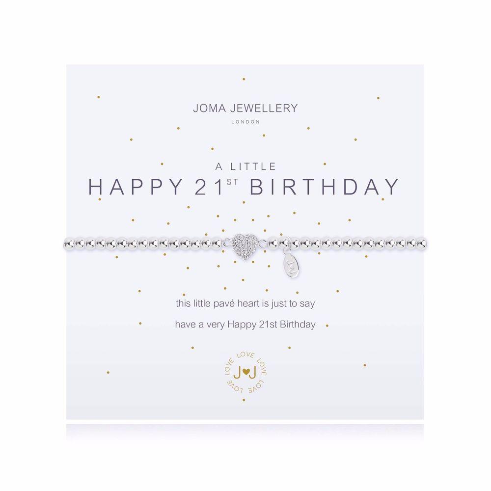 Joma Jewellery 21st Birthday Bracelet Leaf Street