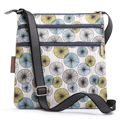 Circles-flat crossbody bag