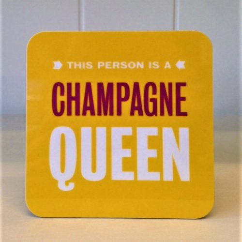 Coaster champagne queen