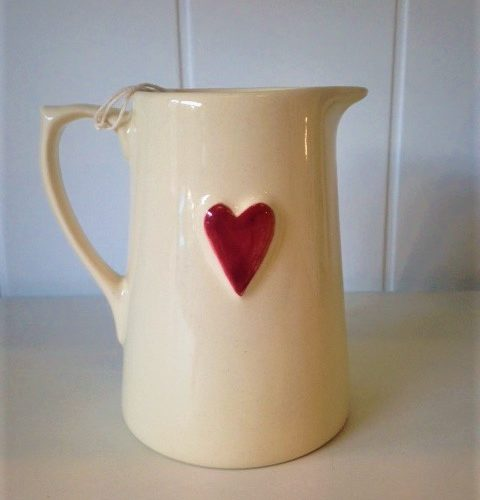 Deliverance county pottery heart jug