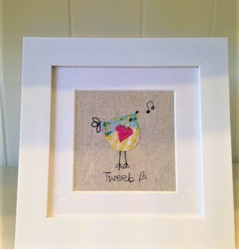 embroidered picture bird