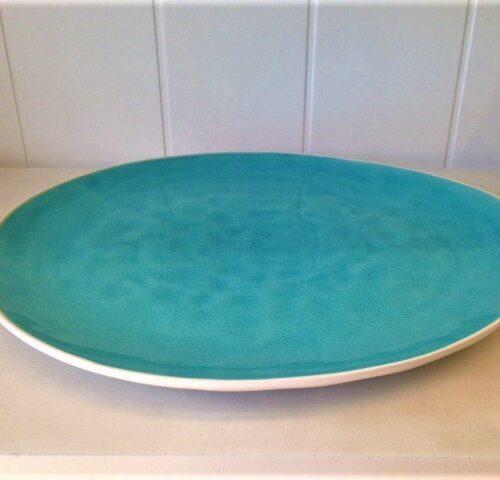 fairmont big plate turquoise