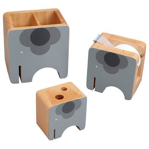 orla wooden desk set elephants (2)