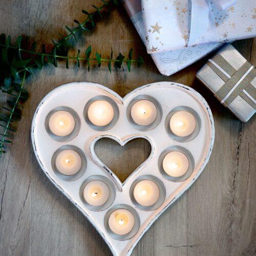 retreat heart tea light