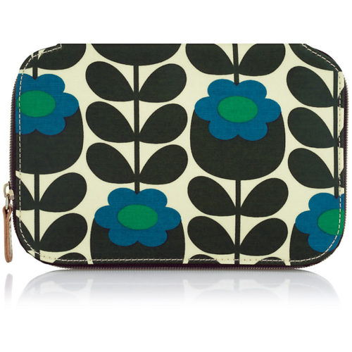 orla kiely small flower zip pouch