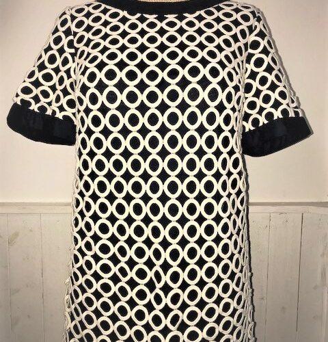black creamm dress