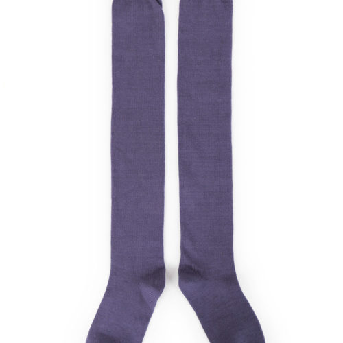 powder long blue sock