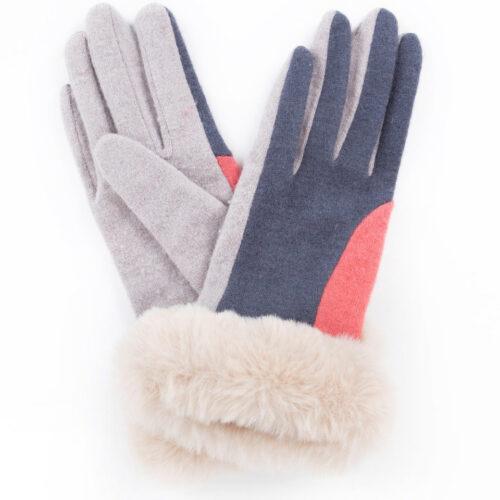 powder fur glove
