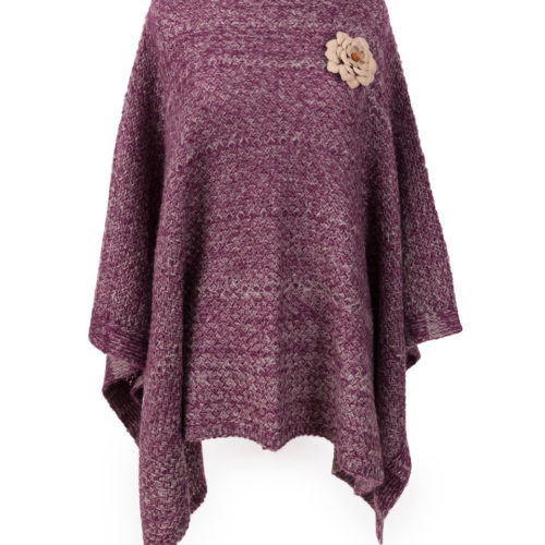 powder purple poncho