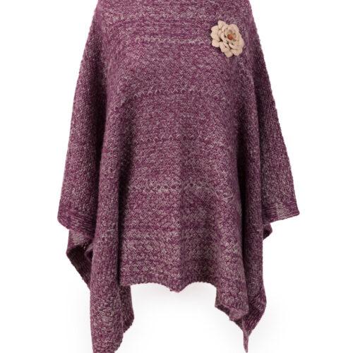 powder purple poncho