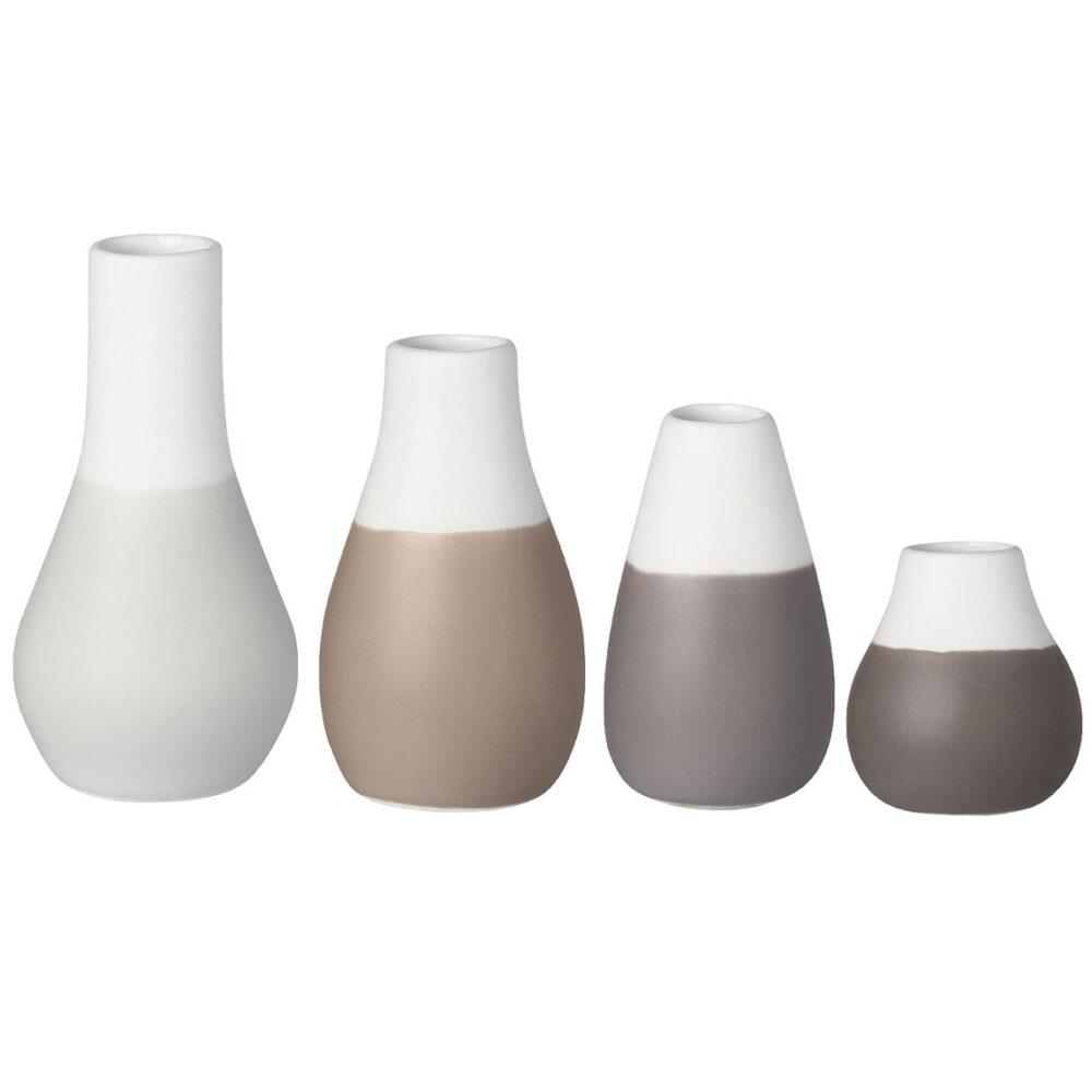 rader grey mini vases