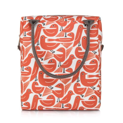 nicky james bird orange lunch bag