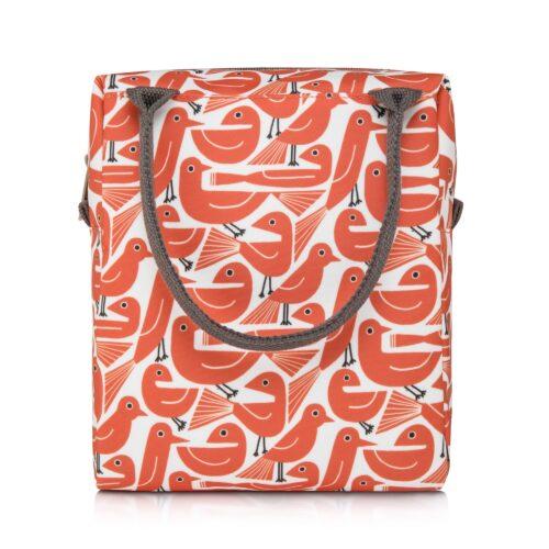 nicky james bird orange lunch bag
