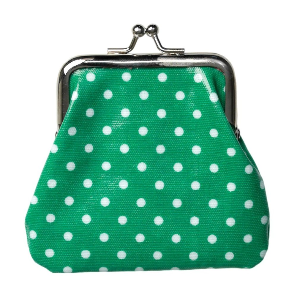 green spotty purse 2