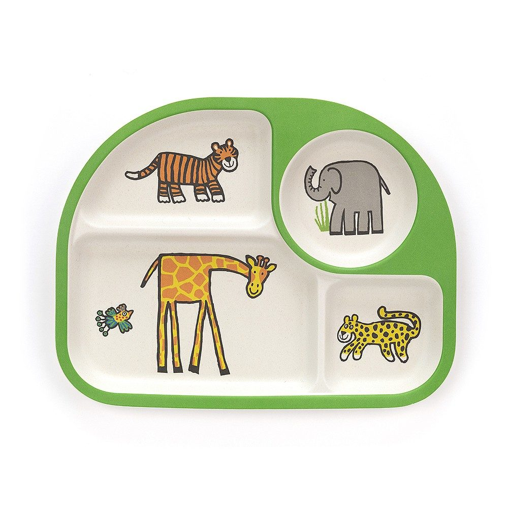 jellycat bamboo divided plate