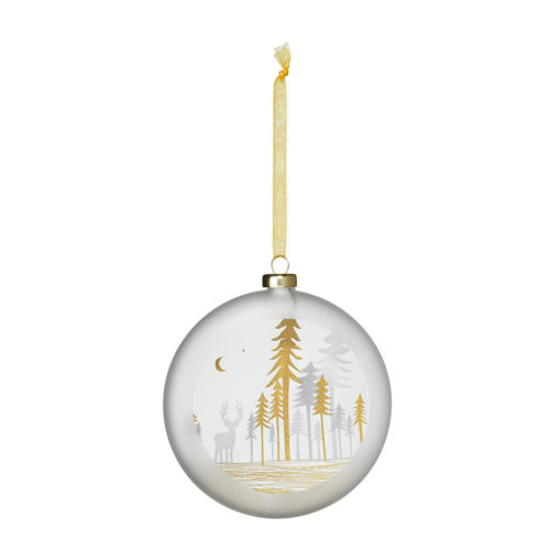 nativity bauble trees