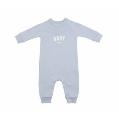 """Bob & Blossom Mouse Grey """"Baby"""" Onesie Size 3-6 Months"""