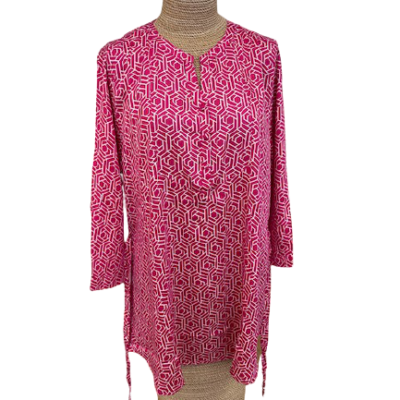Mudd and Water Pink and White Daybreak Tunic new for 2021 size 10