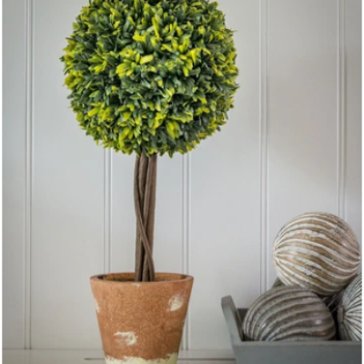 Retreat Home Faux Topiary Ball in Pot