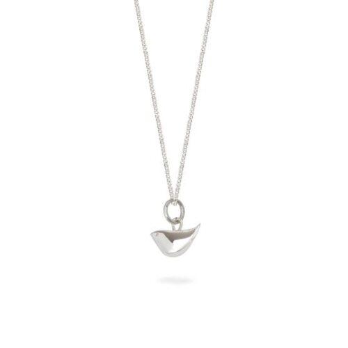 lime tree design silver bird necklace
